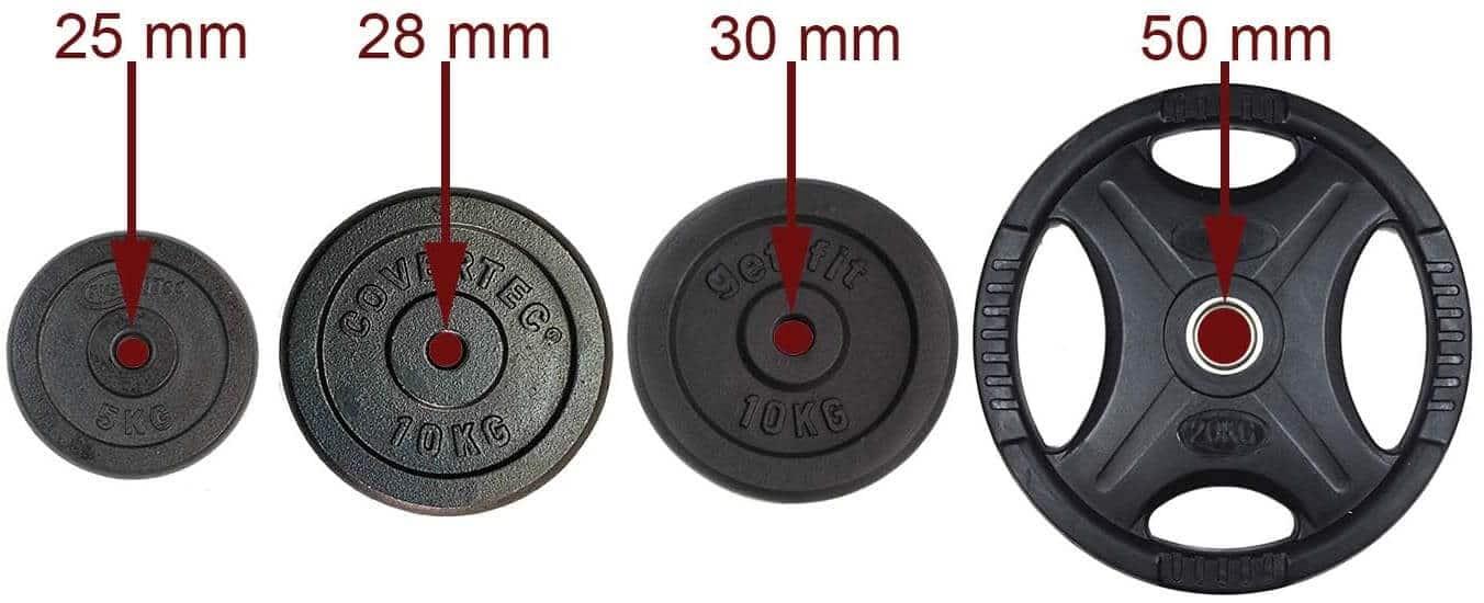 diametro discos pesas