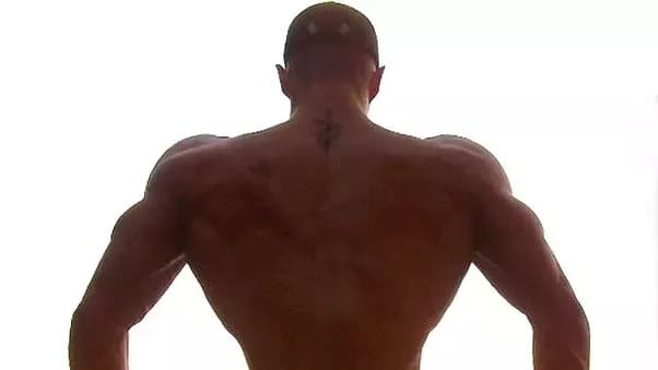 espalda forma v