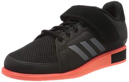 adidas Power III, Zapatillas de Gimnasio Hombre, Core Black/Night Met./Signal Coral, 45 1/3 EU