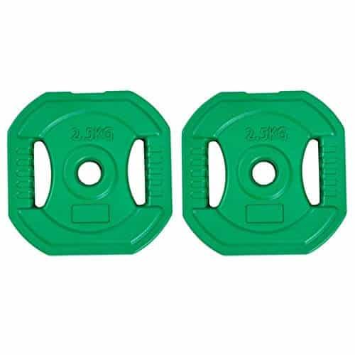 Yyqx Discos de Pesas Ejercicio de Levantamiento de Peso Placa Placas Placas Barbell 28 Mm Centro de Peso for el hogar Gimnasia de elevación de la Mujer (tamaño : 5kg(2.5kg*2))