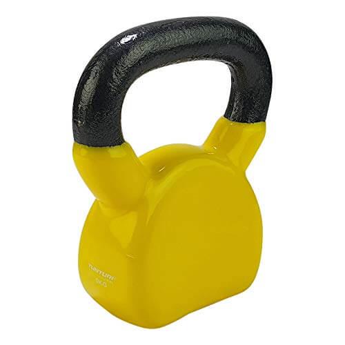 Tunturi Kettlebells Pesa Rusa Vinilo, Unisex Adulto, Yellow, 1