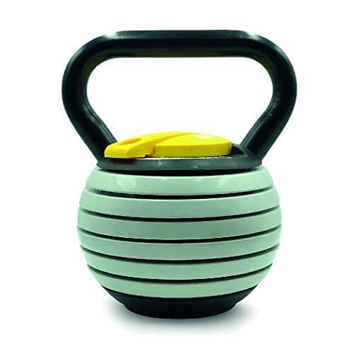 JOWY Kettlebell Ajustable o Pesa Rusa de 2,5kg a 18 kg de Carga y Peso Variable con Discos, Juego de Pesas Rusas, Campana con Pesos Entrenamiento de Fuerza corsstraining