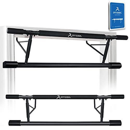 arteesol Barra de dominadas para marco de puerta, barra de dominadas para colgar, sin tornillos ni deslizamientos, barra de esquina antideslizante para entrenamiento corporal