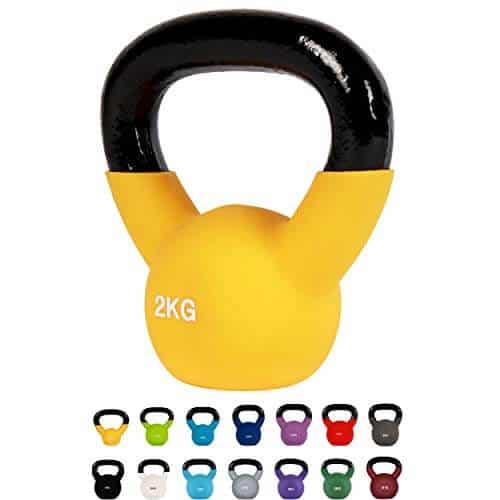 Kettlebell Profesional Neopreno 2 - 30 kg con póster de ejercicios, Pesas