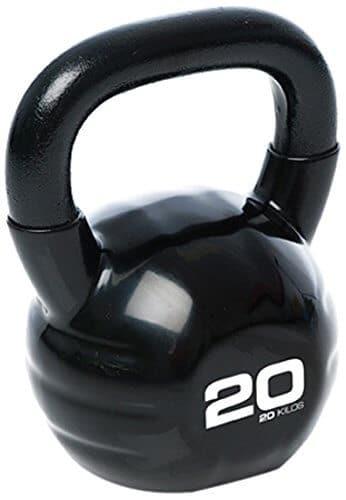 ESCAPE Studio Kettlebell - Pesa Rusas (Vinilo, más de 18 kg), Color Negro, Talla 20 kg