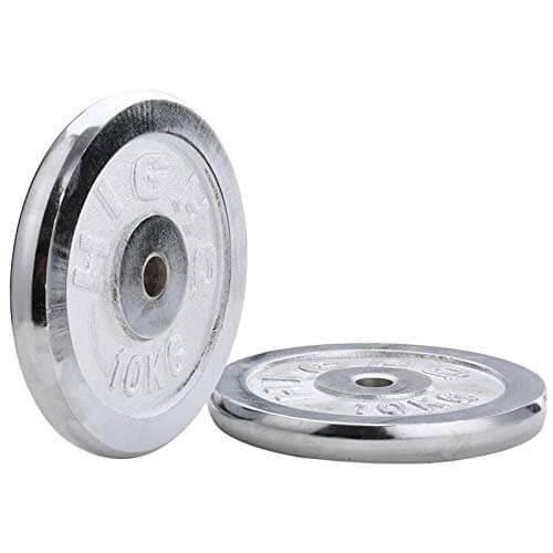 XZZ Discos para Mancuernas Barras, Placa De Peso Galvanizada De 10 Kg, Diámetro Interior De 28 Mm, Utilizada para Entrenamiento De Fuerza, Ejercicio Físico, Par