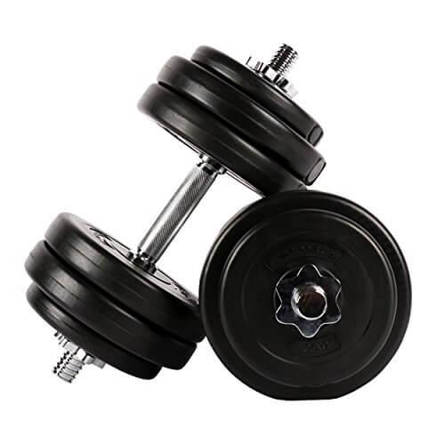 Juego de mancuernas 30 kg (2 x 15 kg) | Juego de pesas cortas | Mancuernas