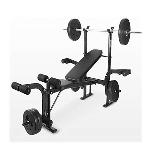 lijingaa Banco De Pesas,para Home Gym Multi-función Banco De Entrenamiento,Plegable Press De Banca,Altura Ajustable Tablero Supino,Barbell Rack