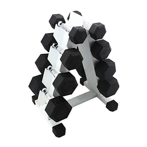 Soporte para mancuernas 4 niveles de hierro con mancuernas rack Soportes Home Fitness pesas con mancuernas Holder Soporte de equipo casero del ejercicio del estante ( Color : White , tamaño : 4 Tier )