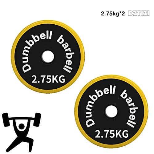 Olympia Discos Como Par – Peso/weight Plates 25 Mm De Hierro Fundido Con Agujeros – 0,5 Kg Hasta 30 Kg 2pc Discos De Pesas,2.75kg*2