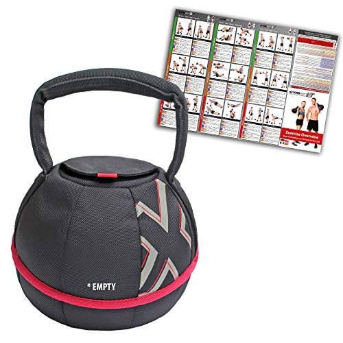 GYMBOX® Bolsa de Arena/Pesas Rusas/Kettlebell/Fitness Bag/Power Bag   Entrenamiento Muscular/Funcional/de Pesas Libres   Puede Estar llenado con Arena   Negro, 4 kg   vacío