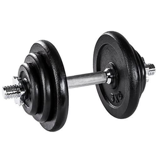 TecTake Mancuerna con Pesas halteras de Fitnes Acero Hierro musculación Gimnasio - Varios Modelos - (20kg | no. 402365)