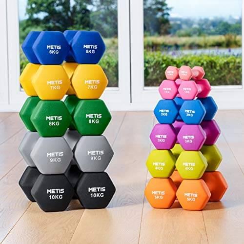 METIS Mancuernas │ Pesas │ Ejercicio en Casa │ Musculación y Fitness (3kg)