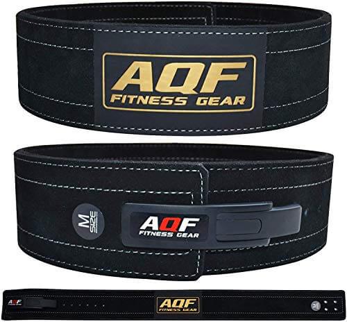 """AQF Cinturon Lumbar Gimnasio para Levantamiento De Cinturon Gym Hebilla de Palanca Pesas De Cuero Acolchado De 4"""" Pulgadas para Musculación De Físico (2XL)"""
