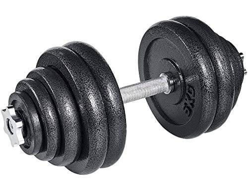 arteesol - Mancuernas Ajustables de Hierro Fundido Individual 10 kg, 15 kg, 20 kg, 30 kg, para Profesionales del Fitness (1x30kg)