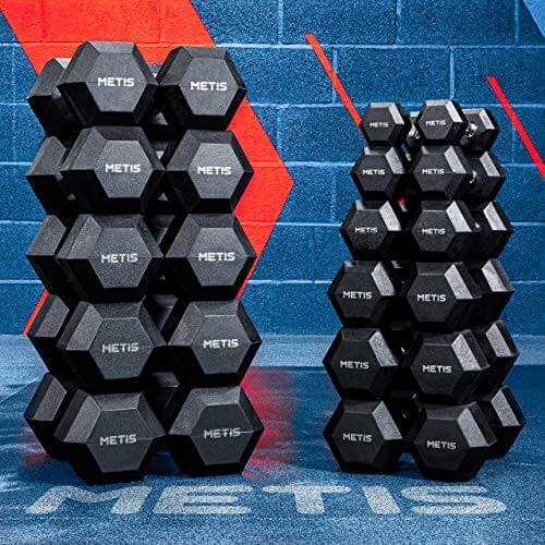 METIS Forza Mancuernas Hexagonales | Par de Pesas | Material Fitness y Musculación [2,5KG-30KG] | GANA Musculo y Pierde Grasa (2.5 KG)