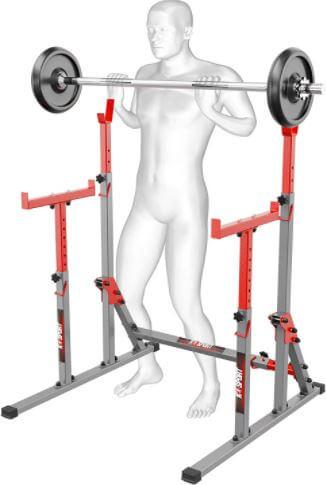 2. K-Sport -Bodybuilding - Soporte ajustable para sentadillas y barras