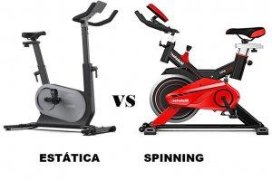 Bicicleta estática o de spinning ¿Qué es mejor?