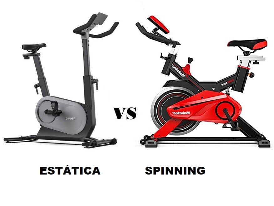 bicicleta estatica o bicicleta spinning