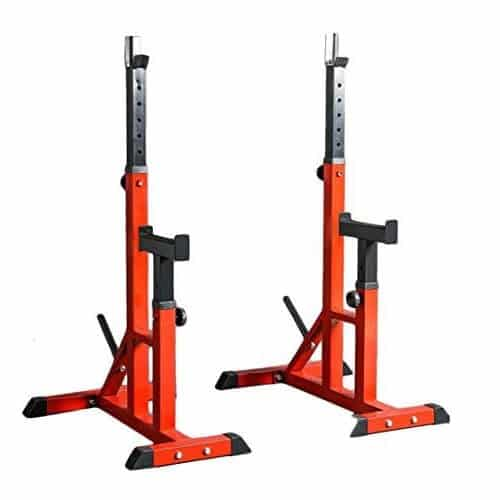 rack sentadilla soporte barra