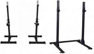 tipos de racks soportes para barras sentadillas